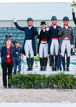 Canadian Dressage Team Captures Team Silver Medal in CDIO 3* Wellington Nations' Cup