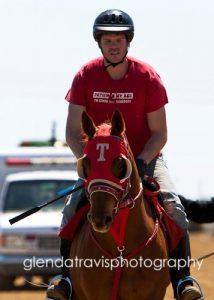 Carl Calahan at the track, 2011, photo by Glenda Travis Photography